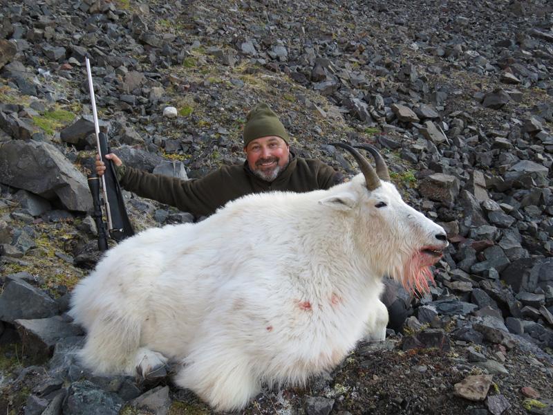 Kanada, British-Columbia, havasi kecske vadászat