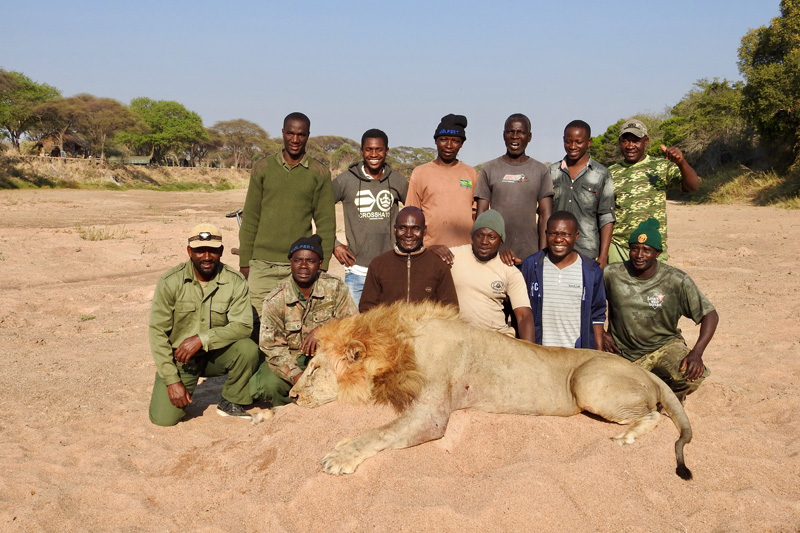 Oroszlán vadászat Tanzániában